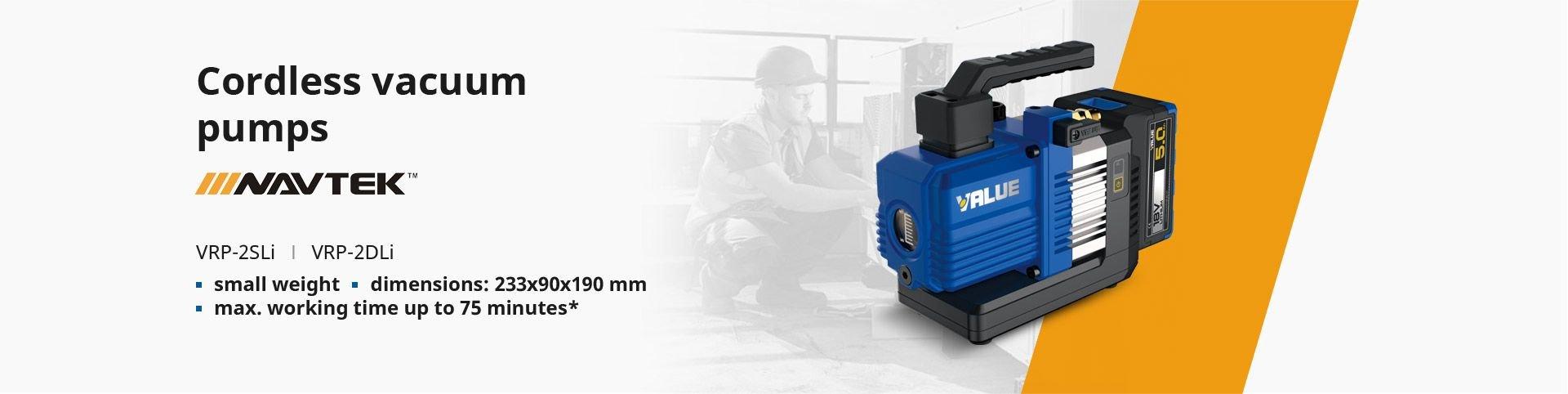 Cordless vacuum pumps